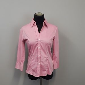 New York & Company pink city stretch shirt
